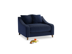 Oscar Love seat in Indian Blue Clever Cord
