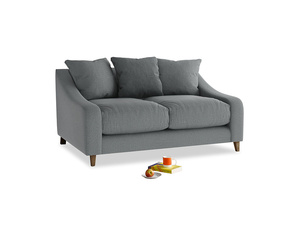 Small Oscar Sofa in Cornish Grey Bamboo Softie