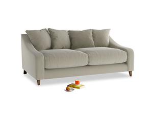 Medium Oscar Sofa in Blighty Grey Clever Cord
