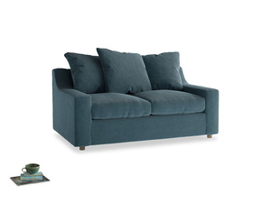 Small Cloud Sofa in Lovely Blue Clever Cord