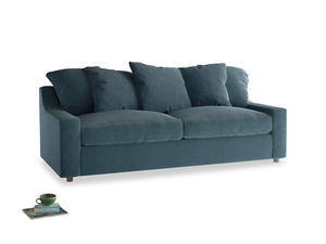 Large Cloud Sofa in Lovely Blue Clever Cord