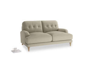 Small Sugar Bum Sofa in Jute vintage linen