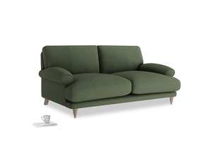 Medium Slowcoach Sofa in Forest Green Clever Linen