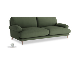 Large Slowcoach Sofa in Forest Green Clever Linen