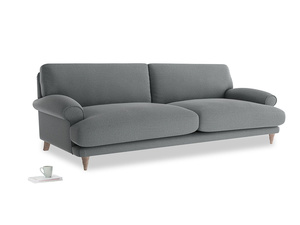 Extra large Slowcoach Sofa in Cornish Grey Bamboo Softie