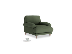 Slowcoach Armchair in Forest Green Clever Linen