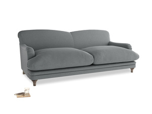 Large Pudding Sofa in Cornish Grey Bamboo Softie
