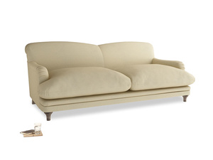 Large Pudding Sofa in Parchment Clever Linen