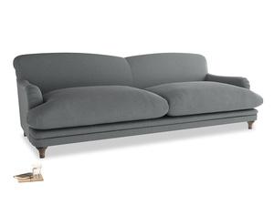 Extra large Pudding Sofa in Cornish Grey Bamboo Softie