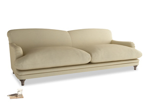 Extra large Pudding Sofa in Parchment Clever Linen
