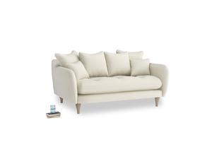 Small Skinny Minny Sofa in Alabaster Bamboo Softie