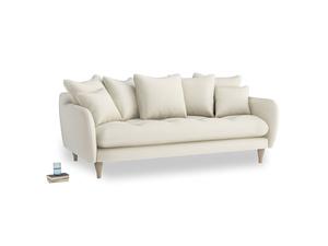 Large Skinny Minny Sofa in Alabaster Bamboo Softie
