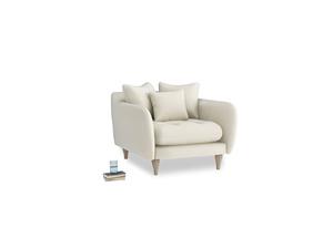 Skinny Minny Armchair in Alabaster Bamboo Softie