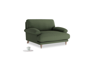 Slowcoach Love seat in Forest Green Clever Linen
