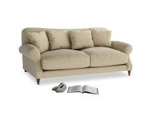 Medium Crumpet Sofa in Hopsack Bamboo Softie