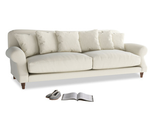 Extra large Crumpet Sofa in Alabaster Bamboo Softie