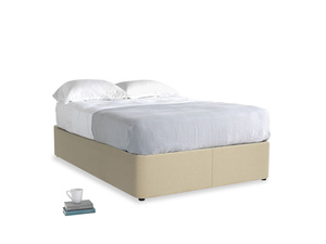 Double Store Storage Bed in Hopsack Bamboo Softie