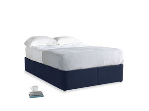Double Store Storage Bed in Indian Blue Clever Cord