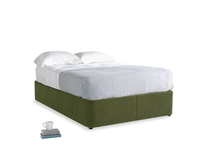 Double Store Storage Bed in Leafy Green Clever Cord
