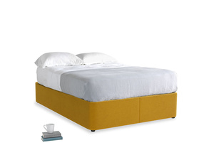 Double Store Storage Bed in Saffron Yellow Clever Cord
