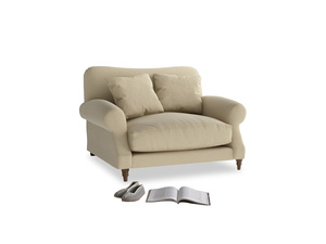 Crumpet Love seat in Hopsack Bamboo Softie