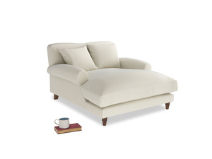 Crumpet Love Seat Chaise in Alabaster Bamboo Softie