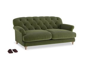 Medium Truffle Sofa in Leafy Green Clever Cord