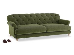 Extra large Truffle Sofa in Leafy Green Clever Cord