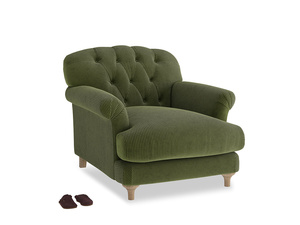 Truffle Armchair in Leafy Green Clever Cord