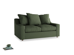 Small Cloud Sofa in Forest Green Clever Linen