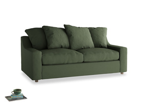 Medium Cloud Sofa in Forest Green Clever Linen