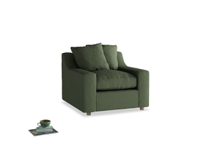 Cloud Armchair in Forest Green Clever Linen