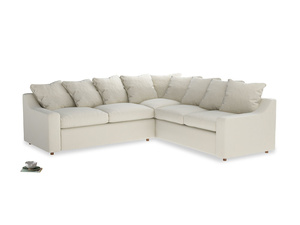 Even Sided Cloud Corner Sofa in Alabaster Bamboo Softie