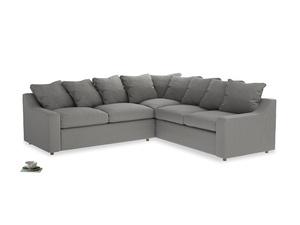 Even Sided Cloud Corner Sofa in Cloudburst Bamboo Softie