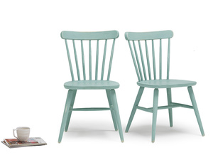 Pair of Natterbox In Easy Blue kitchen chairs