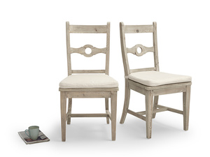 Pair of Chinwag Beached kitchen chairs