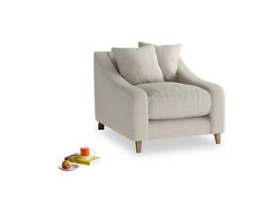 Oscar Armchair in Thatch house fabric