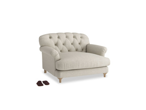 Truffle Love seat in Thatch house fabric