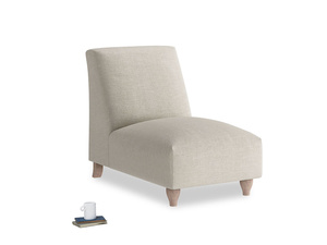 Soufflé Single Seat in Thatch house fabric