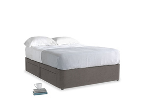 Double Tight Space Storage Bed in Everyday Grey Clever Cord