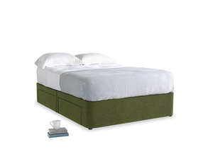 Double Tight Space Storage Bed in Leafy Green Clever Cord