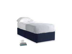 Single Tight Space Storage Bed in Indian Blue Clever Cord
