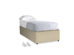 Single Friends Trundle Bed in Hopsack Bamboo Softie