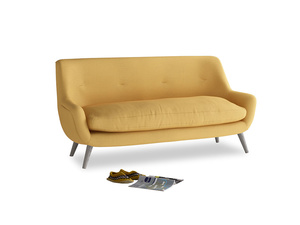 Medium Berlin Sofa in Dorset Yellow Clever Linen