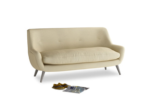 Medium Berlin Sofa in Parchment Clever Linen
