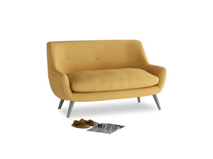 Small Berlin Sofa in Dorset Yellow Clever Linen