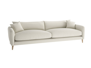 Extra large Squishmeister Sofa in Oat brushed cotton
