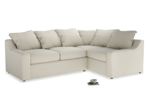 Large Right Hand Cloud Corner Sofa in Alabaster Bamboo Softie