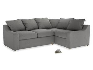Large Right Hand Cloud Corner Sofa in Cloudburst Bamboo Softie