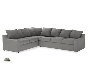 Xl Left Hand Cloud Corner Sofa in Cloudburst Bamboo Softie
